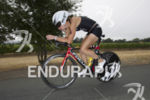 Emily Cocks during the bike leg at the 2014 Ironman…