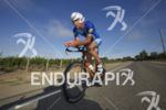 Matty Reed during the bike leg at the 2014 Ironman…