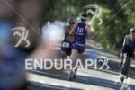 Rachel McBride on the run at the 2014 Ironman 70.3…