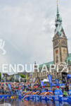 Team Relay race start at the 2014 Hamburg World Triathlon…