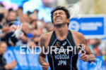 Japanese Hosoda finishing the race at the 2014 Hamburg World…