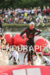 Dirk Bockel exits the water at the Challenge Datev Roth,…