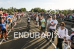 Massive crowd at the start of the bike leg of…