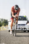 James Cunnama hydrates during the bike leg at the Challenge…