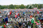 The huge transition area at the 2014 Challenge Roth in…