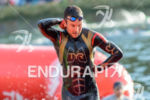 Joe Gambles exits the water at the 2014 Challenge Roth…