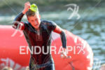 Timo Bracht exits the water at the 2014 Challenge Roth…