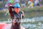 Anja Beranek exits the water at the 2014 Challenge Roth…