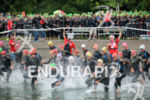 swim start of the elite athletes at the 2014 Ironman…