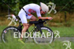 Jan van Berkel on the bike at the 2014 Ironman…