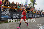 Natascha Badmann on the run at the 2014 Ironman Switzerland…