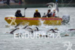 swim start of the elite athletes at the Ironman 70.3…