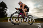 Daniela Ryf on the bike at the Ironman 70.3 European…