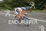 Sebastian Neef on the bike at the Ironman 70.3 European…