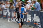 Peter Robertson on the run at the Ironman 70.3 European…