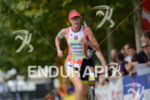 Leanda Cave on the run at the Ironman 70.3 European…
