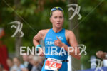 Laura Philipp on the run at the Ironman 70.3 European…