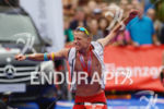 Maurice Clavel at the finish of the Ironman 70.3 European…