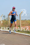 Ariane Monticeli running for victory at the 2014 Ironman 70.3…