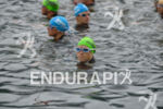 Kristin Moeller waits for the swim start of the Ironman…