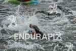 Athlete at the swim start of the Ironman 70.3 Zell…