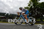 Sonja Tajsich on the bike at the Ironman 70.3 Zell…