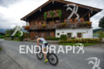 Athlete on the bike at the Ironman 70.3 Zell am…