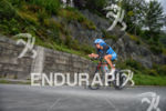 Eva Wutti on the bike at the Ironman 70.3 Zell…