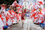 Kristin Möller celebrates her second place at the finish of…