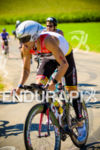 Pedro Gomes negotiating the bike course at the Ironman Wisconsin…
