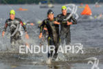Javier Gomez was the first out of the water at…