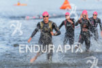 Jodie Swallow was the first out of the water at…