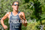 Lisa Huetthaler running at the 2014 Ironman 70.3 World Championships…