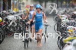 Laura Philipp in the transition zone of Ironman 70.3 Ruegen…