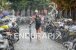 Verena Walter in the transition zone of Ironman 70.3 Ruegen…