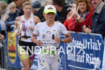Yvonne Van Vlerken on the run portion of the Ironman…