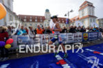 David Jilek at the finish of the Ironman 70.3 Ruegen…