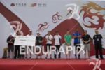 The pro men's awards at the 2014 Beijing International Triathlon…
