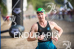 Heike Funk is second out of the water at on…