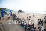 Swim exit at Ironman Wales, on the swim at the…