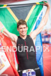Matt Trautman enjoys his win at the 2014 Ironman Wales…