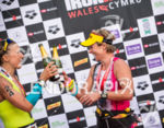 Amy Forshaw and Julia Bohn celebrate at the 2014 Ironman…