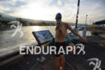Swimmer warming up before his morning swim training for the…