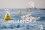 The lead swim pack at the 2014 GoPro Ironman World…