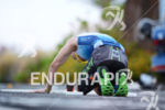 Age group athlete is exhausted on the run portion of…