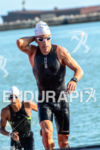 Eneko Llanos during the  swim portion of the 2014 Ironman…