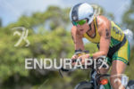 Haley Chura during the bike portion of the 2014 Ironman…