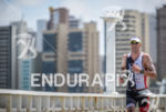 Balazs Czoke during the run portion of the 2014 Ironman…