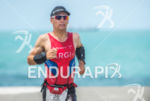 Stefan Schmid during the run portion of the 2014 Ironman…
