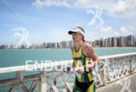 Haley Chura during the run portion of the 2014 Ironman…
